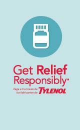 tylenol get relief responsibly, tamaño chico