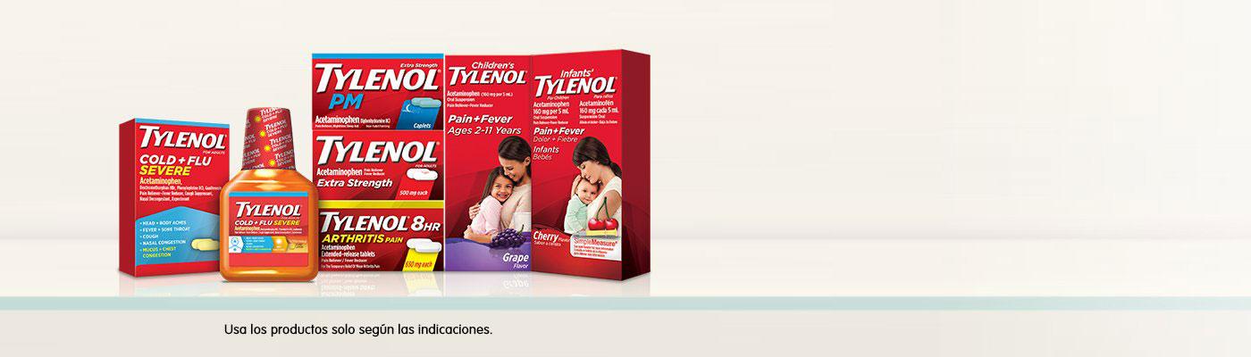 Muestra de productos Tylenol